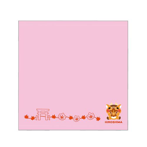 広島しかちゃん刺繍ミニタオル